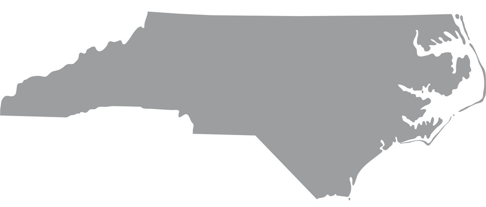 Map Of Us State Of North Carolina Vector 8969178